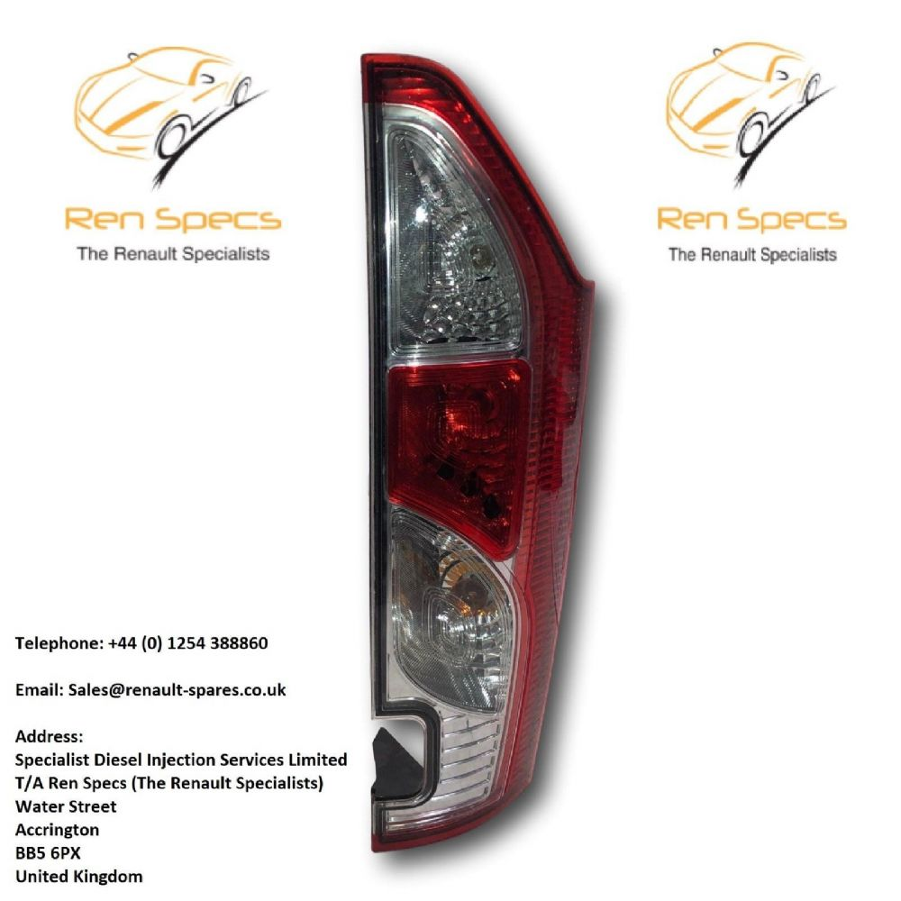 Lamp Left Rear Kangoo II 2 13- 265557352R Lift Renault